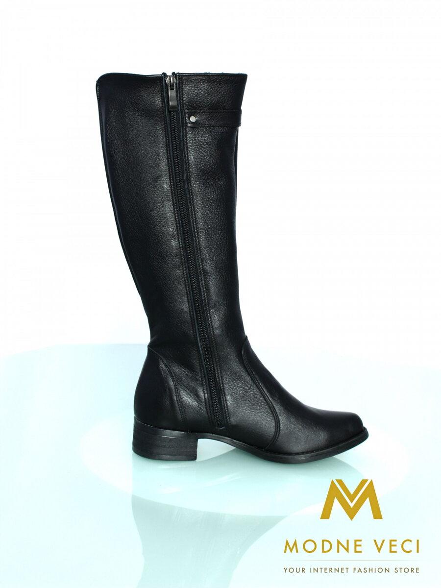 019b514192472 Čierne kožené čižmy Violeta 03G-pravá koža čižmy, obuv, topanky, dámske  topánky, dámske čižmy, dámska obuv, kožené