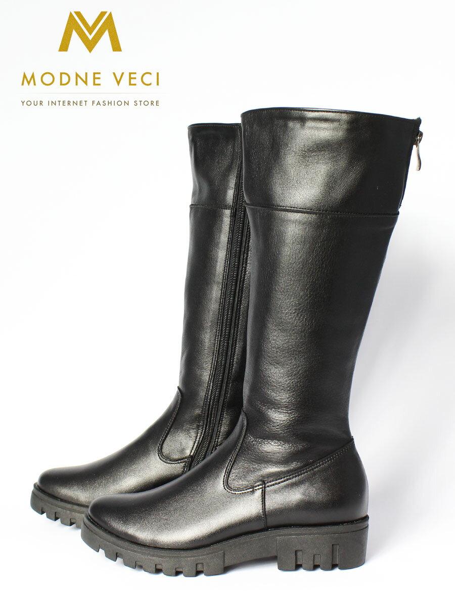 Dámske čierne čižmy EMA 01 pravá koža ... ad50c61573b