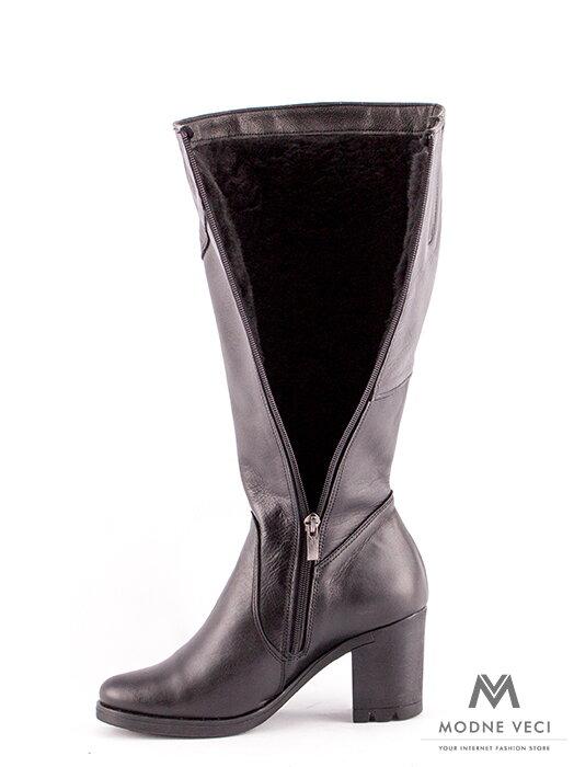 Luxusné čierne čižmy z pravej kože Rocca čierna 01d598edc9f