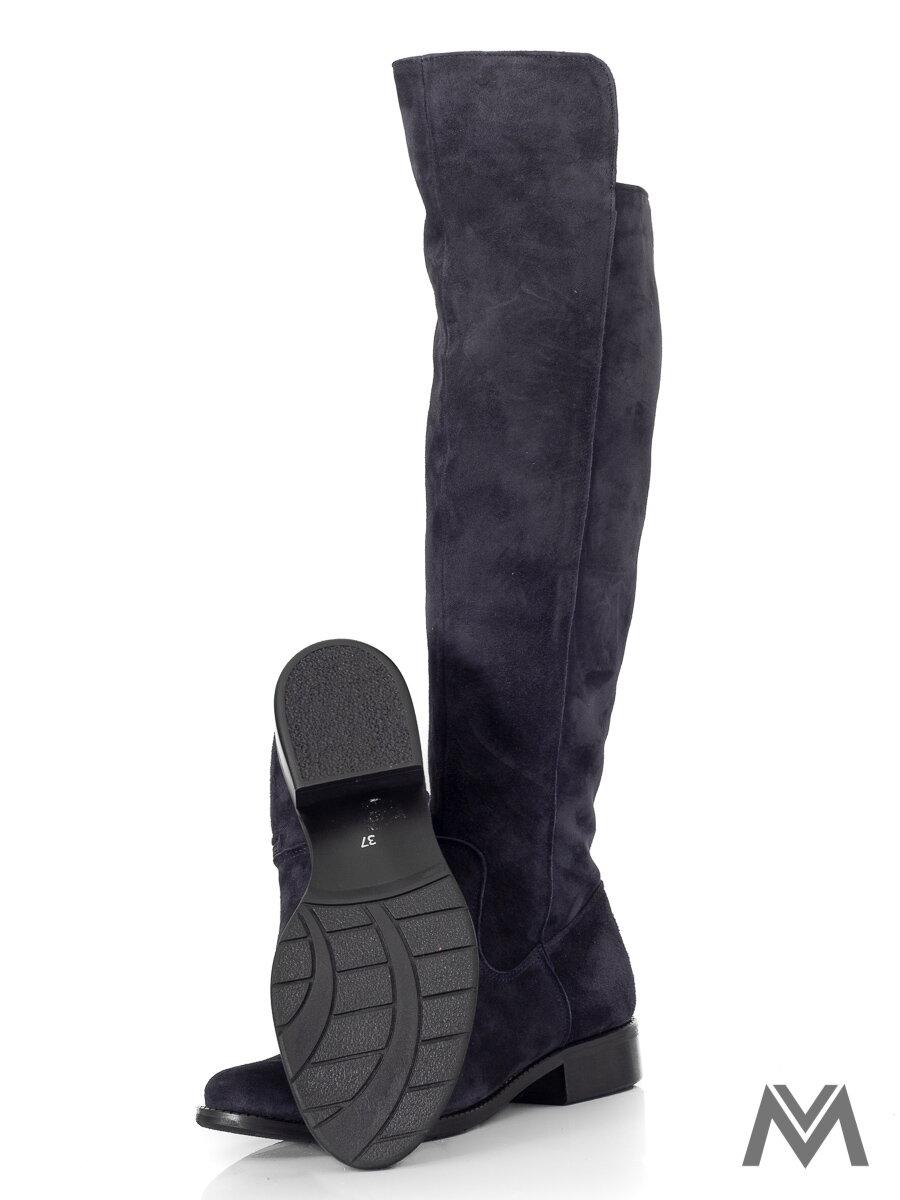 b151918d6 Vysoké čižmy nad kolená z pravej kože Ema 040 čierne nubuk| ModneVeci.sk