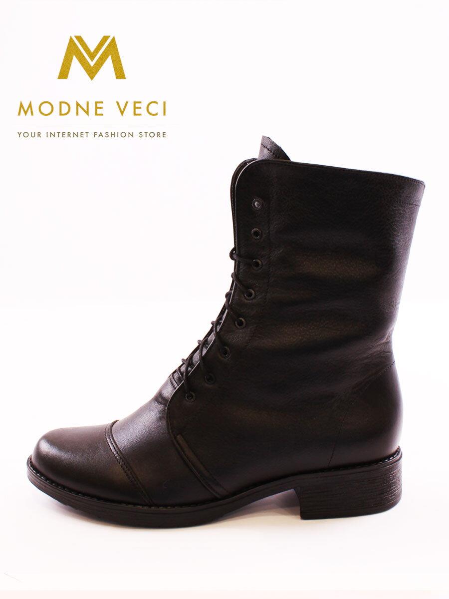 5e4b1ac4fb Kožené topánky na zimu na šnurovanie čierne čižmy ...