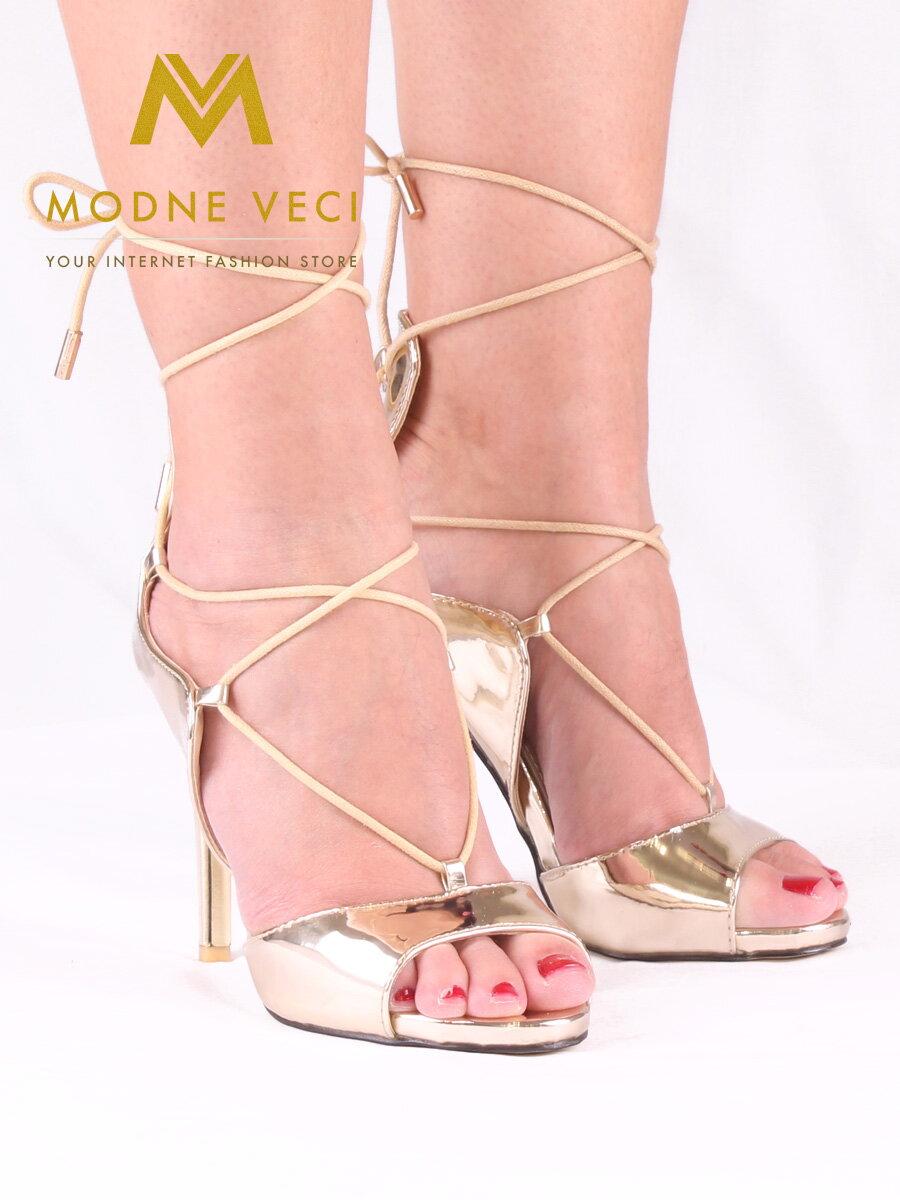 9e97895cdf31 Dámske metalické sandálky - 5006-37 - zlaté sandale ...