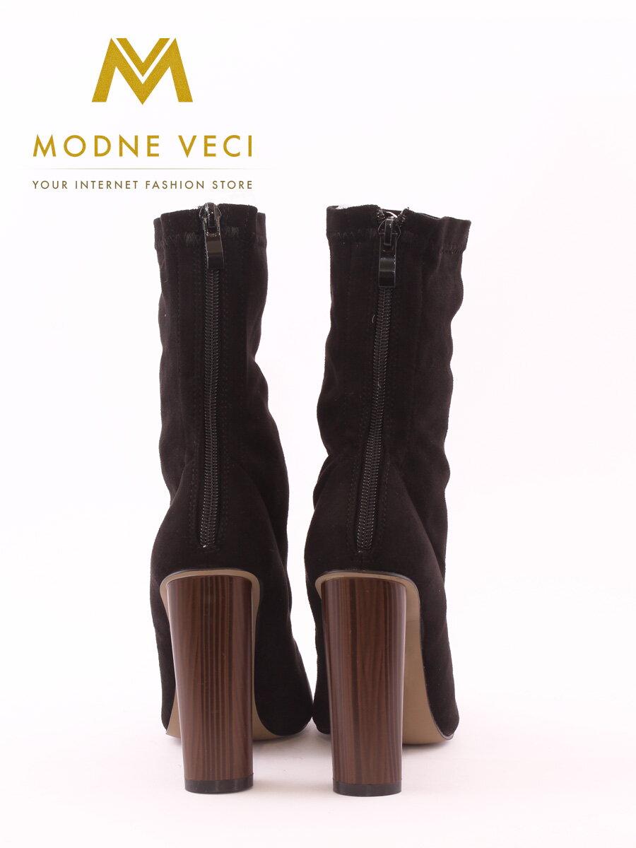 3fb9efda678d Elegantné čierne topánky so širokým podpätkom 6049-1 BLACK