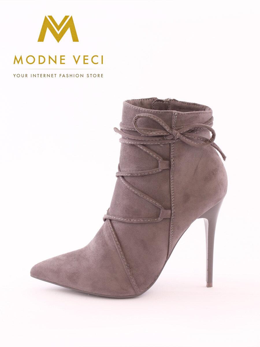 6947a6fad54c Moderné topánky na ihličkovom opätku 5032-5 šedé ...