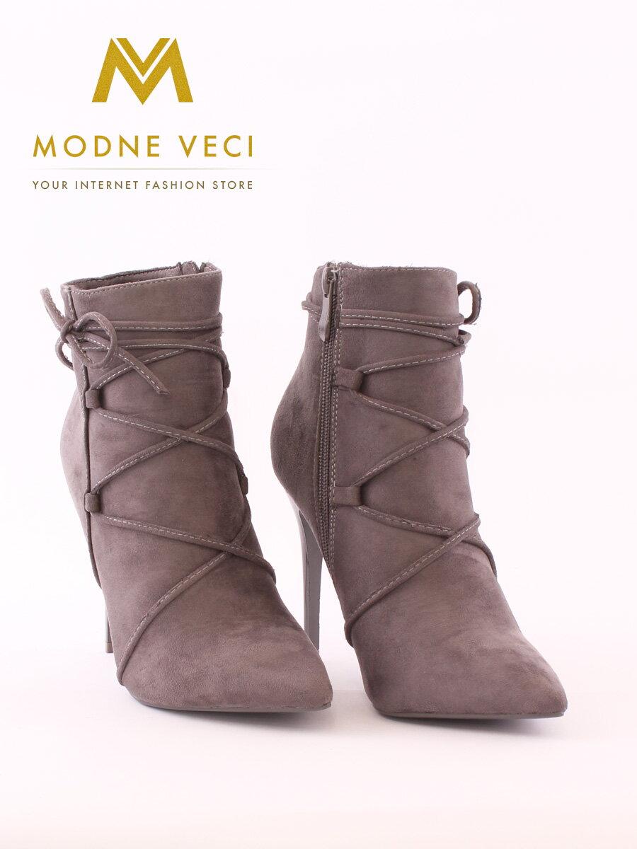 Moderné topánky na ihličkovom opätku 5032-5 šedé ... 789d6627dbf