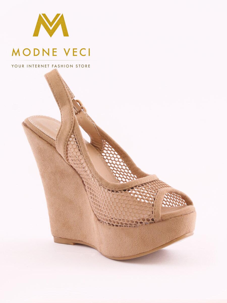 Krásne sieťované platformové sandále na leto Y652-14 ... ac0535f75e0