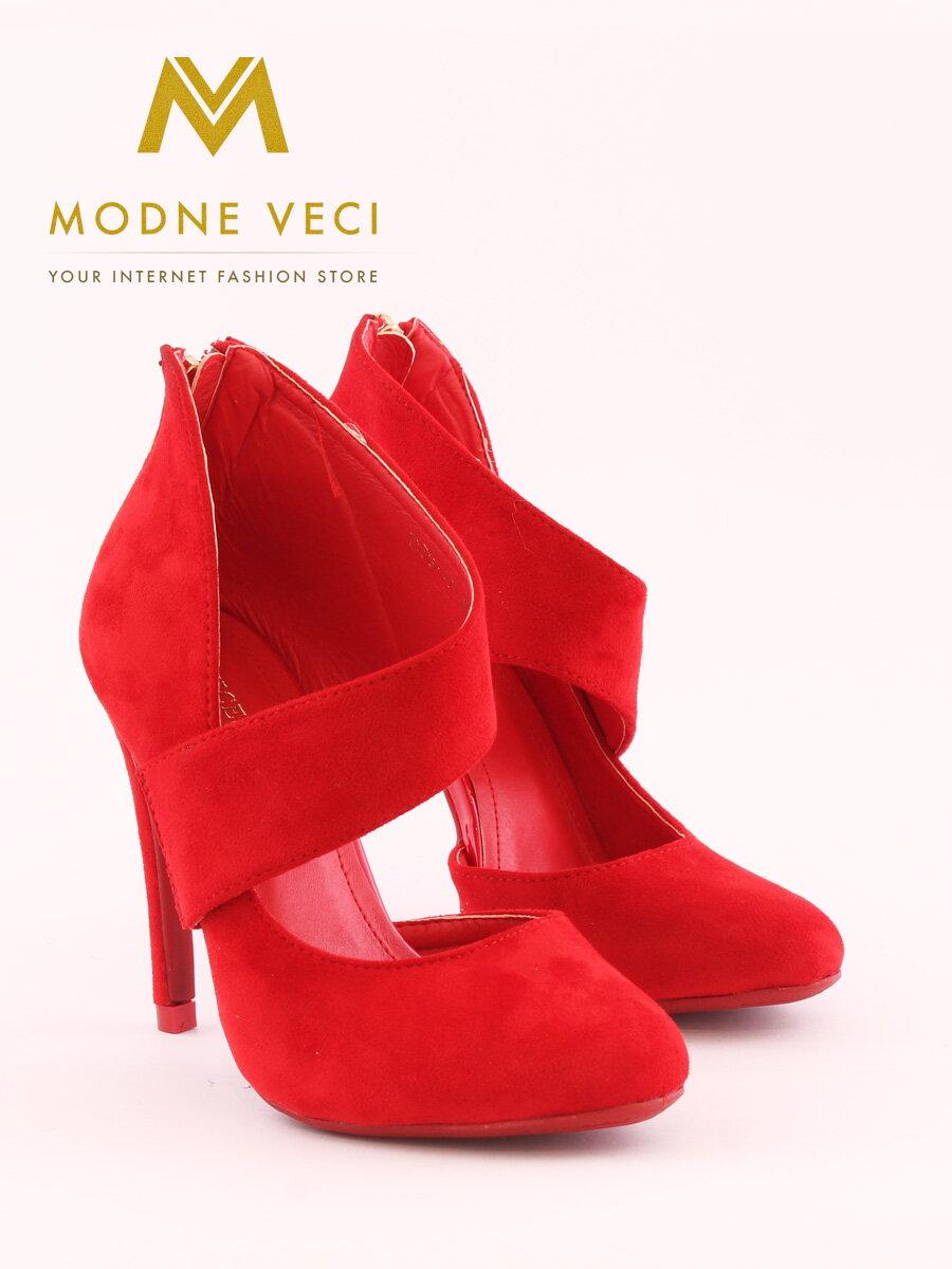 36e1e15a1b4c Krásne červené topánky na ihličkovom podpätku 1130-19 ...