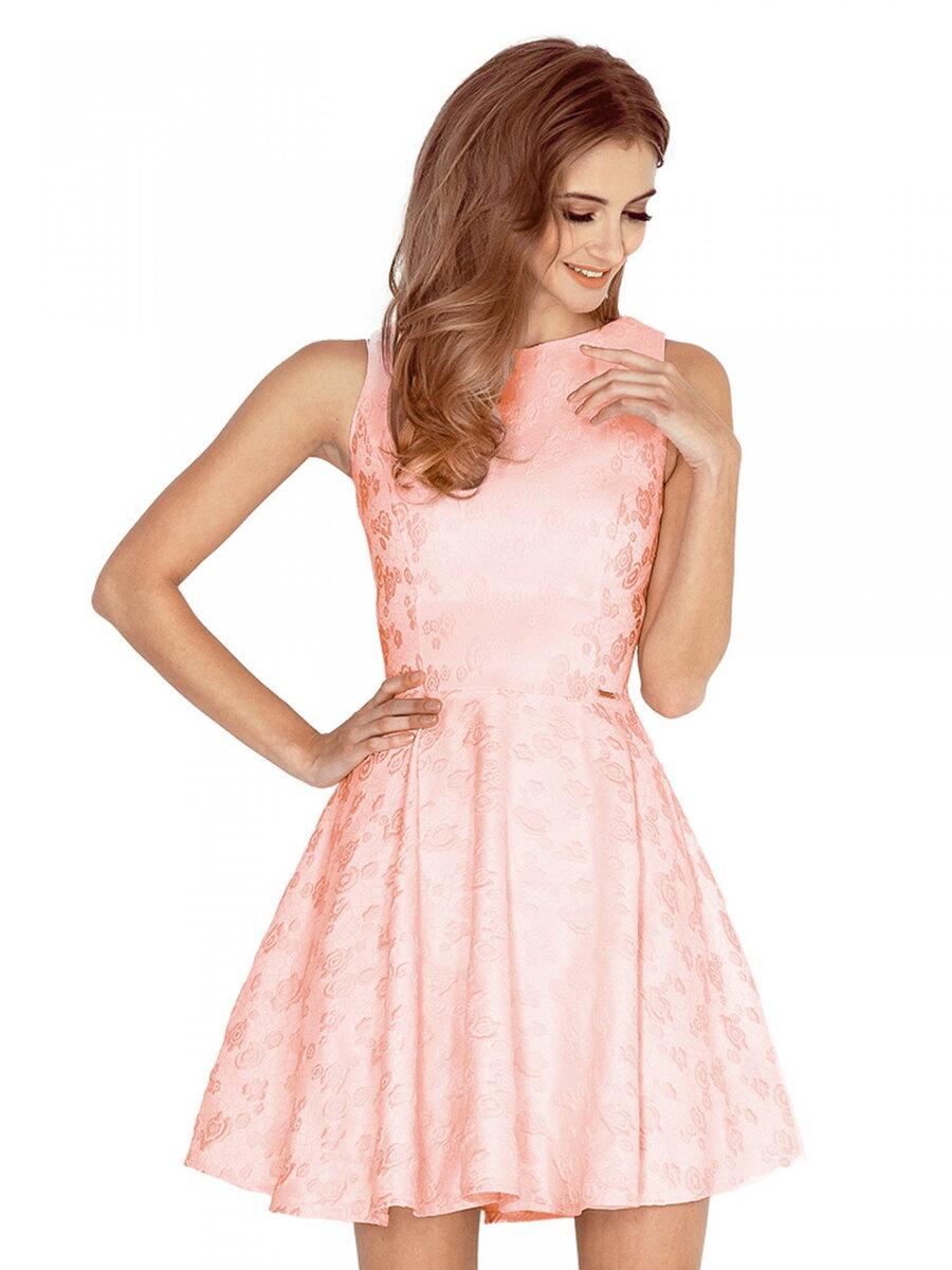 050cf0d87fe2 Broskyňové dámske spoločenské šaty