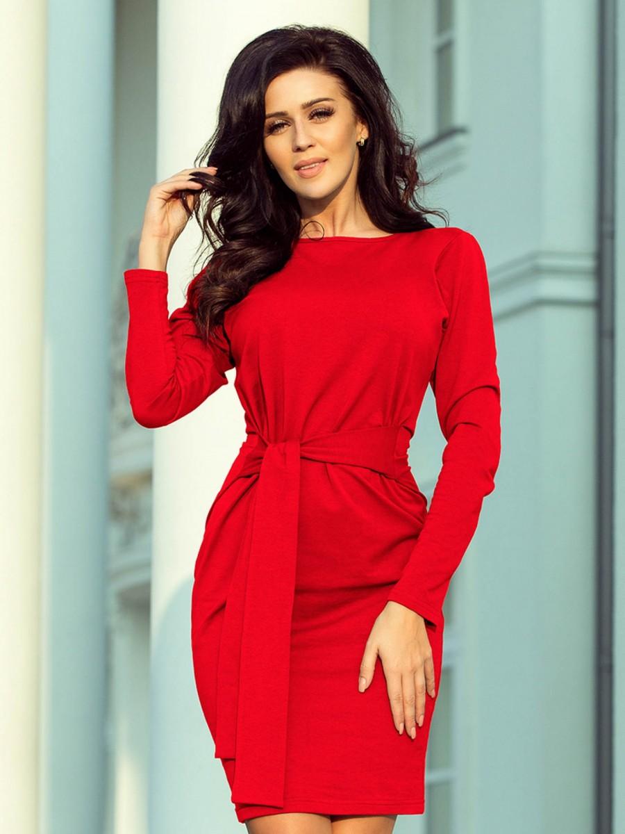 4e0a59c1b225 Dámske Retro šaty 209-6 červene