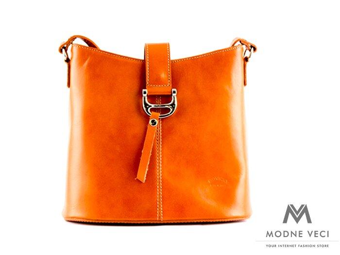 Svetlo-hnedá kabelka TWR-11 z pravej kože  c924bfbba5b