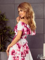 8a30b657a11e Dámske MAXI šaty 194-2 biele s kvetinovým vzorom ...