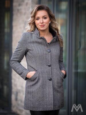Elegantný dámsky kabát ELZA so stromčekovým vzorom 29f7cbf1274