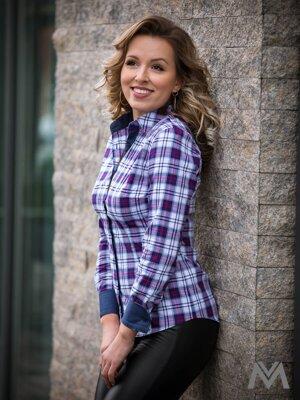 56e9d21c67c8 Karovaná dámska košeľa Slim Fit VS-DK1873