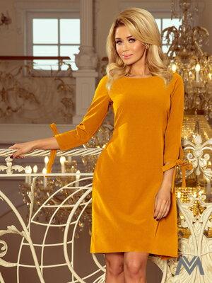 9f32b16a3901 Elegantné dámske šaty Alice 195-6 horčicové