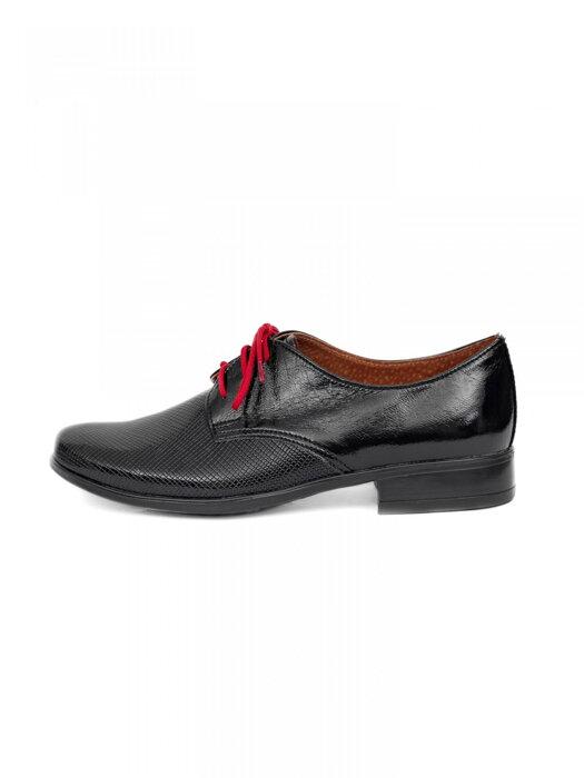 77564f5315 Chlapčenské detské spoločenské kožené topánky 99A čierne lesklé