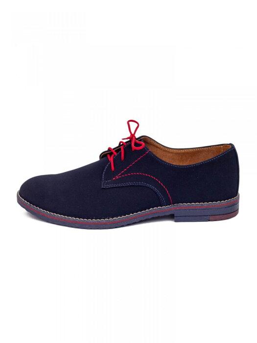 ab70163a34c18 Chlapčenské detské spoločenské kožené topánky 99A modré matné