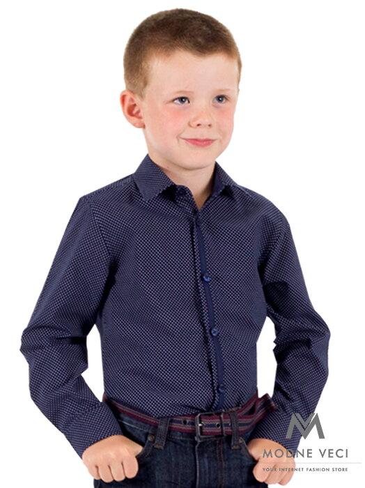 486587aff461 Detská chlapčenská košeľa VS-PK-1721-B tmavo-modrá SLIM-FIT