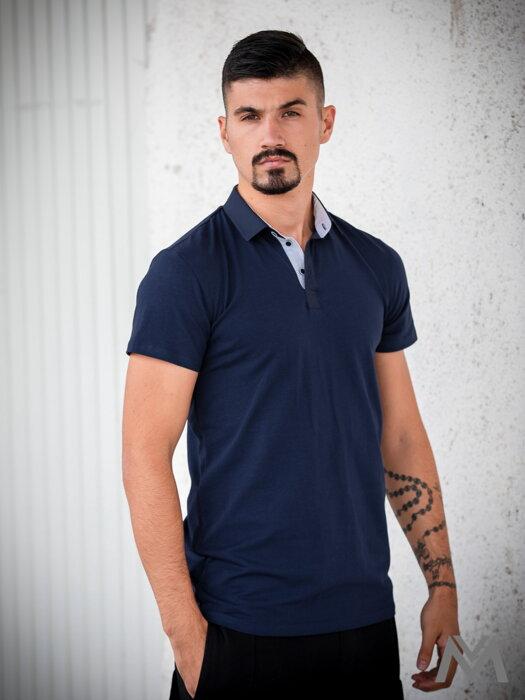 48b2f2c748a1 Pánske polo tričko VERSABE z BIO bavlny 04 tmavomodré VS-PoloM 1903