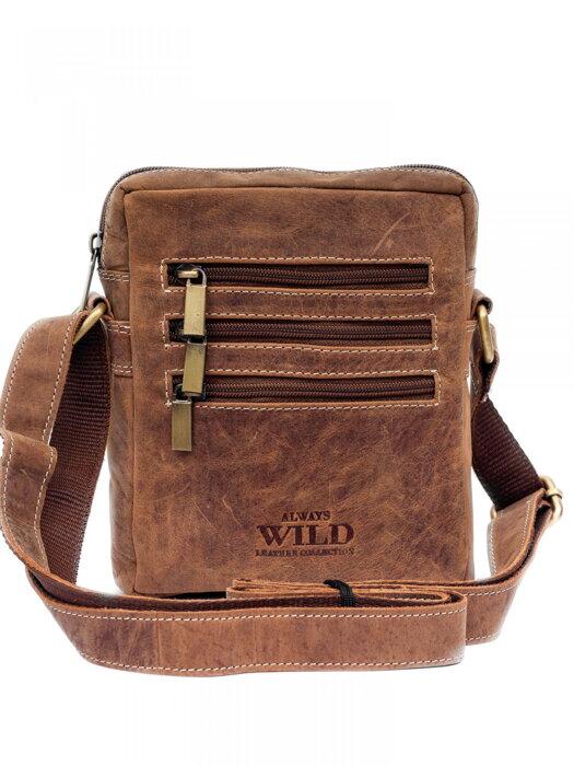 10ab6eb47 Pánska kožená etue kabelka ALWAYS WILD LB1416 CH hnedá | ModneVeci ...