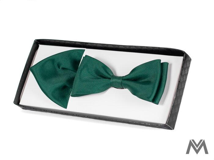 14fa623d3b41 Pánsky motýlik s vreckovkou do saka smaragdový 44
