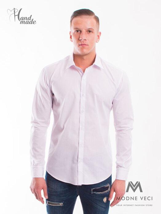 775e2dbbf370 Biela klasická matná košeľa v SLIM FIT strihu - VS-PK-1713