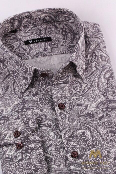 3b5989e5fb8e Luxusná pánska bavlnená košeľa SLIM FIT STRIH VS-PK-1716