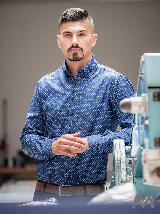 7e02a17d48cd Luxusná pánska košeľa modrá kotva VS-PK-1731