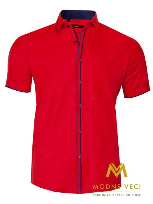 a2e60f7cf70e Pánska košeľa v strihu SLIM FIT 1690-5 krátky rukáv