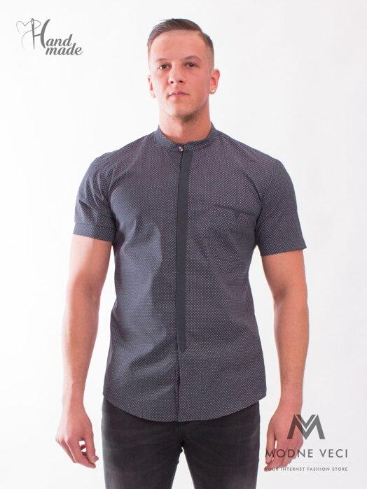 ad70108ba626 Športová tmavomodrá pánska košeľa VS-PK1720