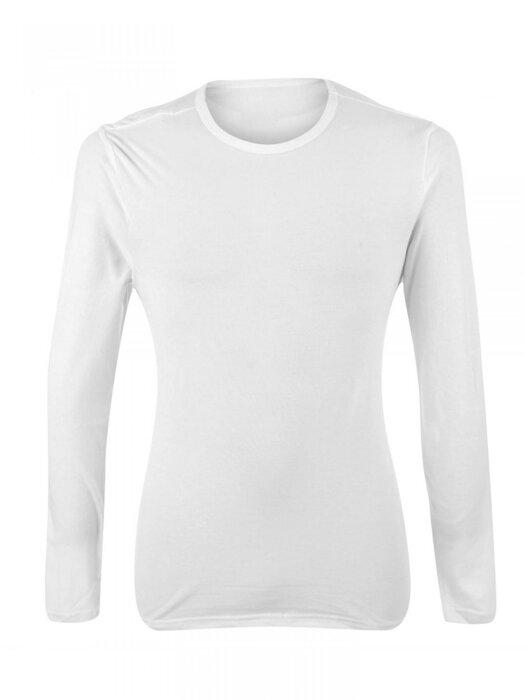 557a424e42da Športový pánsky nátelník VERSABE -dlhý rukáv biely VS-PN-1901