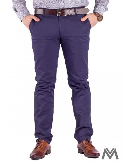 1c52723e1c Slimkové pánske nohavice 48-2 tmavo- modrá