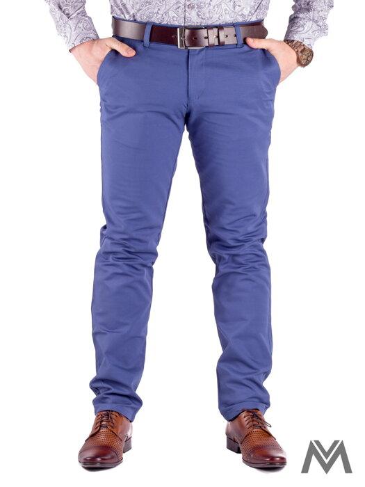 473e8381c717 Slimkové pánske nohavice 48-1 oceľovo modrá