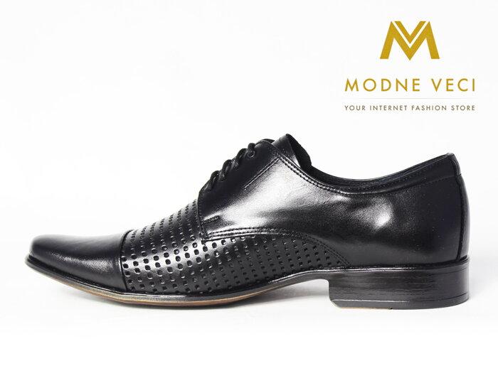 0ef09030ff Elegantné topánky - kožené model 218 - čierne