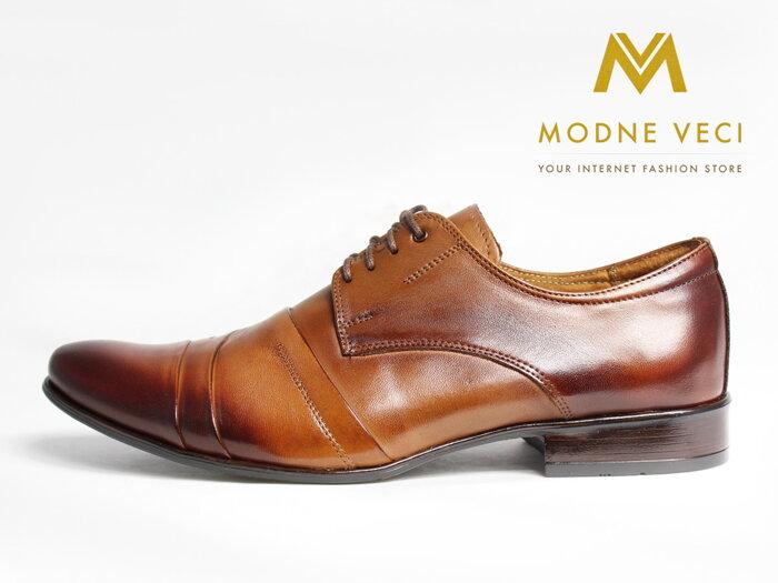 7fd28cef9c Hnedé elegantné topánky - kožené model 116