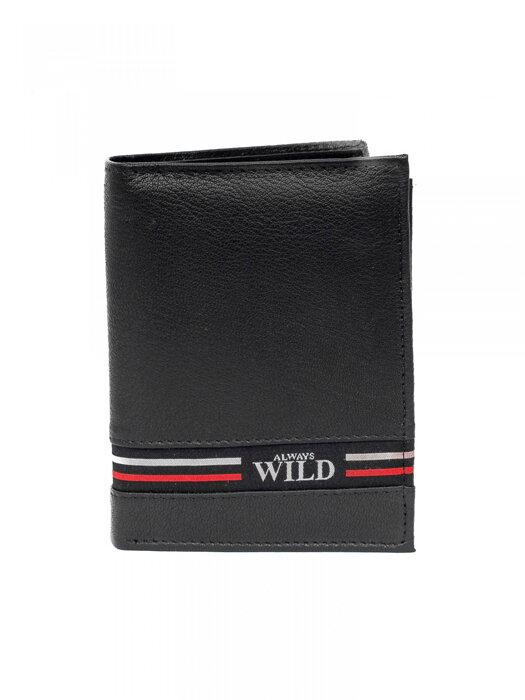 bd75be1b13d7 Pánska kožená peňaženka ALWAYS WILD N4-GV čierna