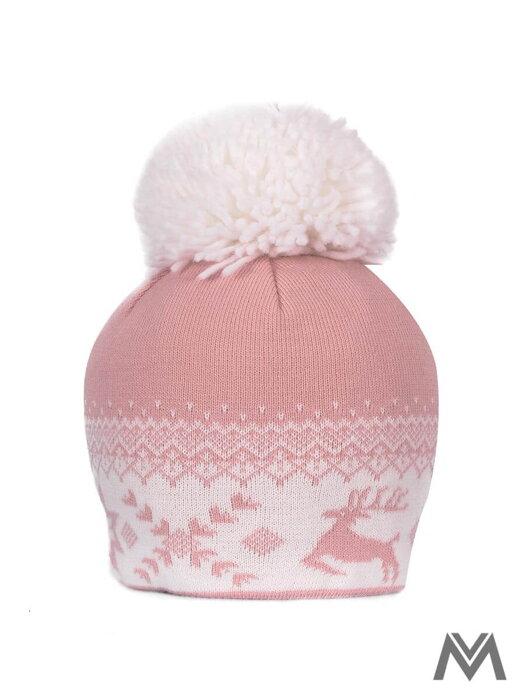 2350e4797 Dámska čiapka s Vianočným motívom ružová