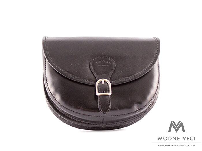 6ddc440037c44 Kožená kabelka ROVICKY TWR-26 v čiernej farbe