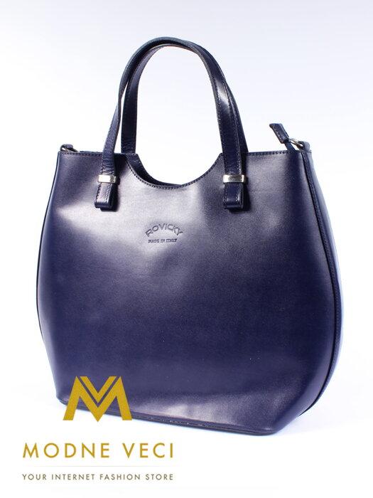 a6b74f3e907f Moderná kabelka z pravej kože modrá TWR 46