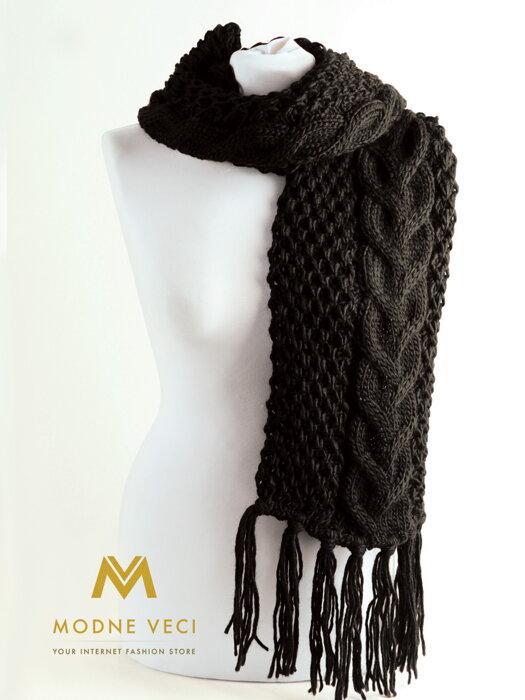 51c20a631 Dámsky pletený šál ANIA čierny