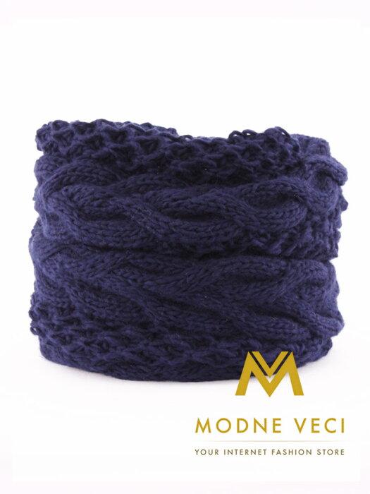 4f9820bcd Dámsky pletený šál ANIA modrý