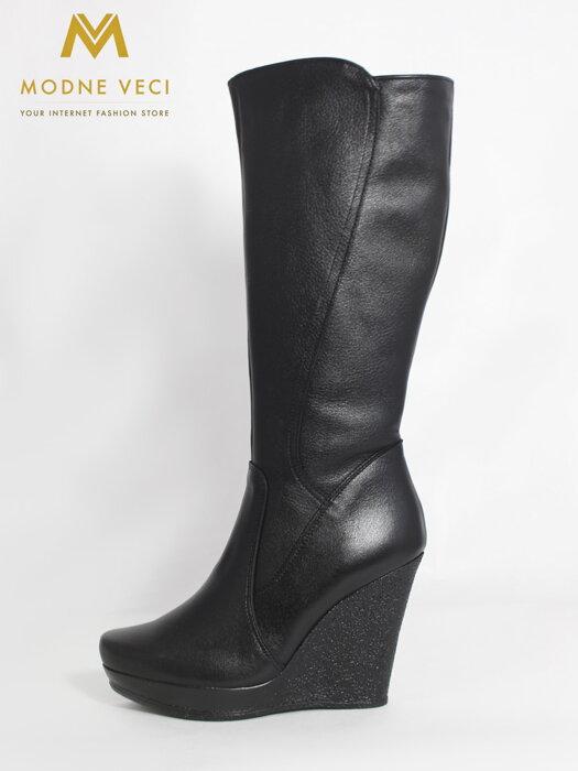 85656f52e8f5 Dámske čižmy Julia čierne-pravá koža