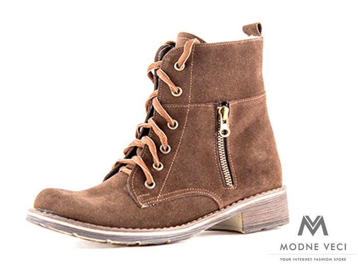 5d10c732a2a5 Dámske kožené topánky na zimu kotnik vyšši 04 hnedé