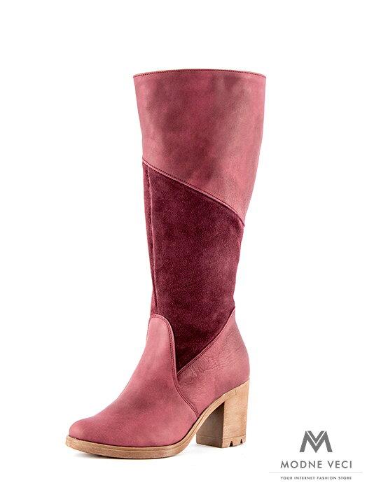 8f0498d316 Luxusné čižmy z pravej kože Rocca bordo