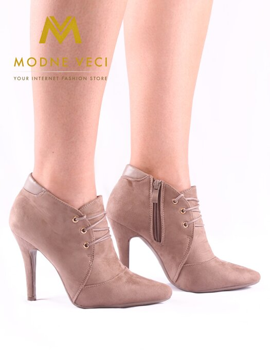 ca31672f3e31 Krásne topánky v šedo hnedej farbe 1082-18