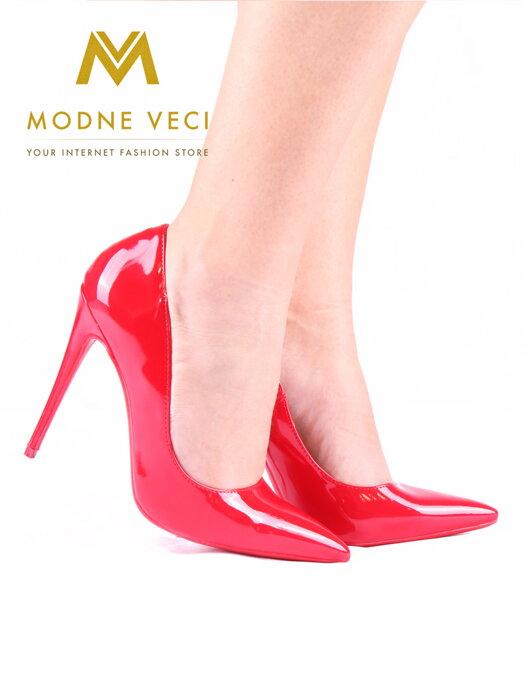 1c6918c680 Luxusné dámske lodičky červené 5018-19