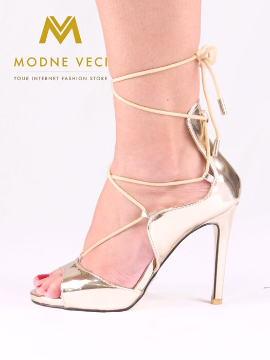 feb52829f10f Dámske metalické sandálky - 5006-37 - zlaté