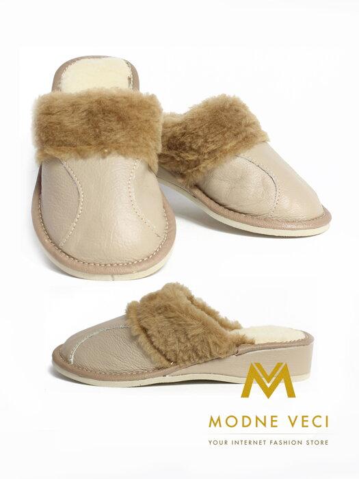 d08e299798 Dámske kožené Papuče lacnejšie ako na ZĽAVOMATOCH