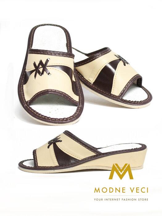 2bb2938703 Dámske kožené papuče model 46