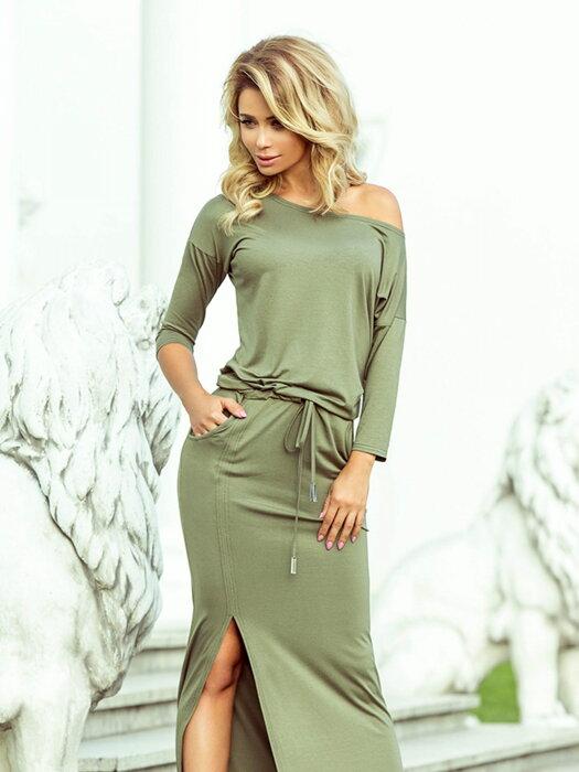 3775b15256cc0 Dámske šaty 220-1 vojenská zelená