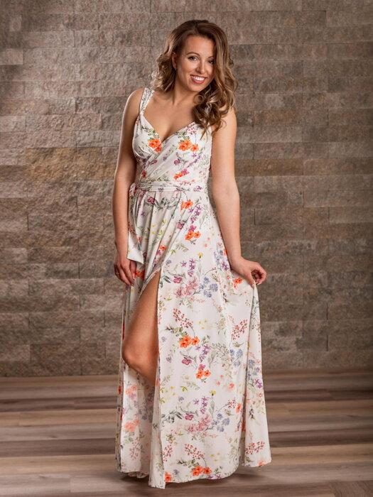 28df771e5dec Dámske MAXI šaty VS-SA 1905 vzor kvietok